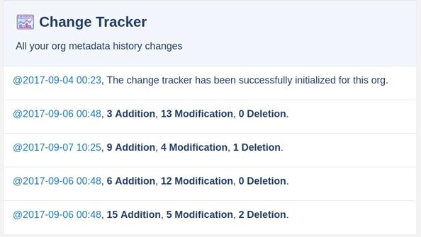 Change tracker